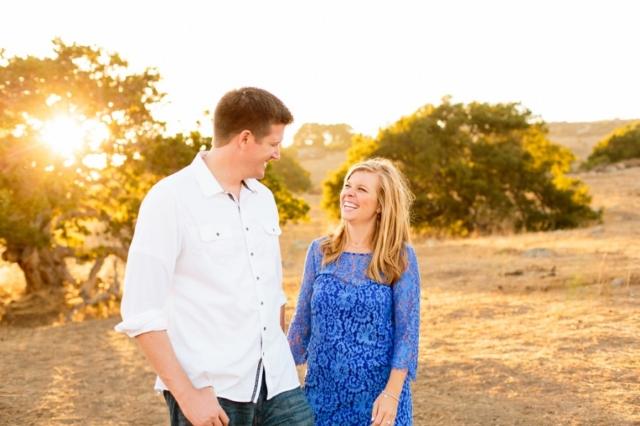 San Luis Obispo sunset engagement session at Bishop Peak