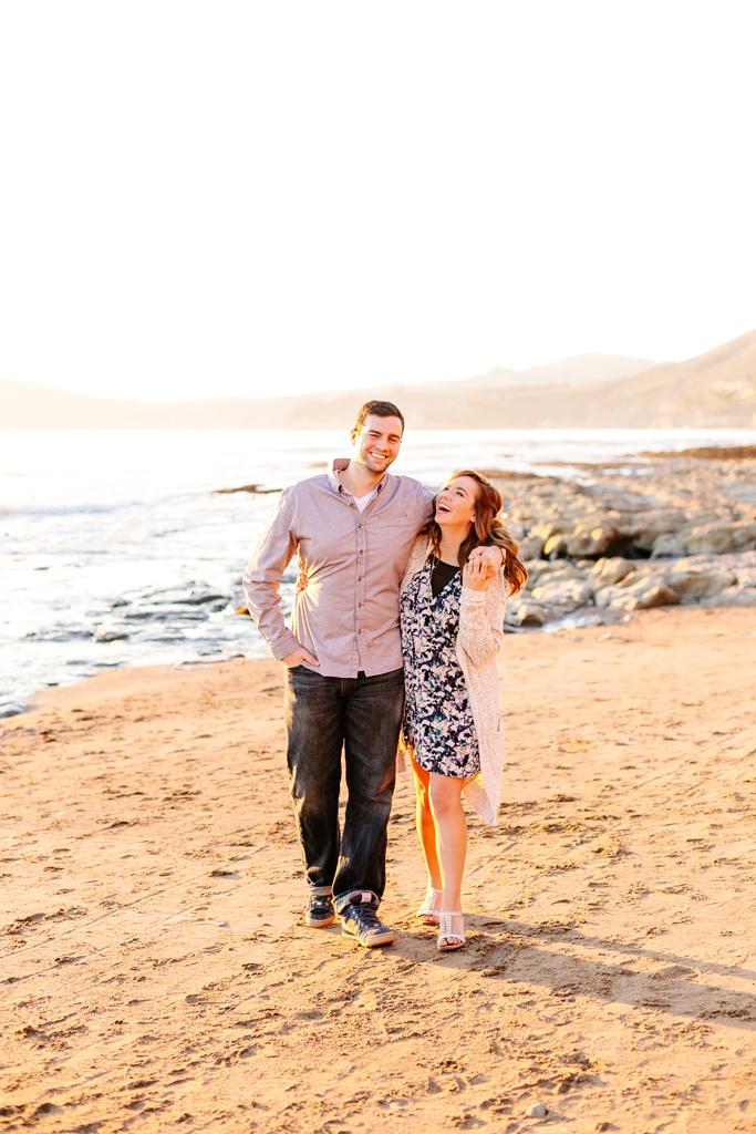 Pismo Beach sunset engagement photos