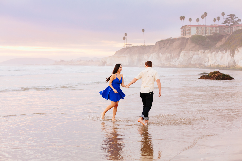 Unbelievable sunset in Pismo Beach for engagement session
