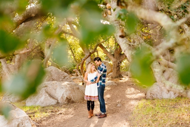 Cute couple hugging in San Luis Obispo engagement photography