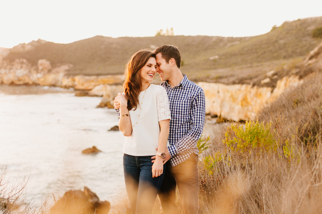 Stunning engagement session on the cliffs overlooking Avila Beach