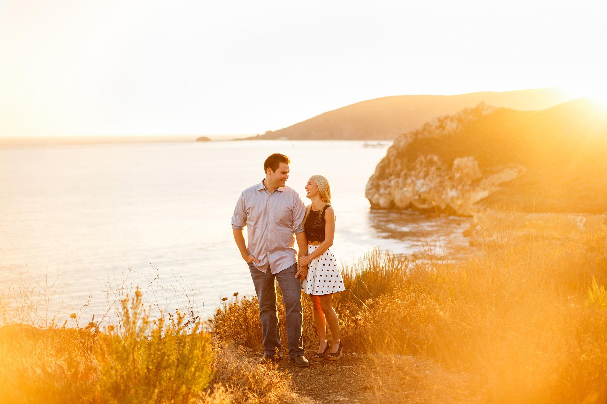 Avila Beach sunset engagement session