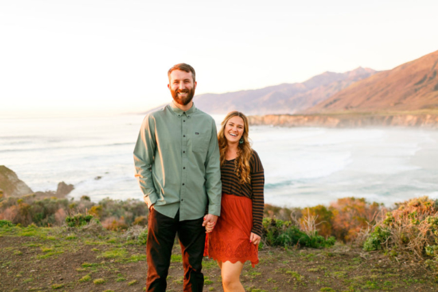 Beautiful couple at their Big Sur engagement session