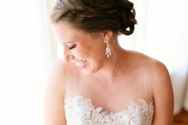 Beautiful bride getting ready for her San Luis Obispo wedding