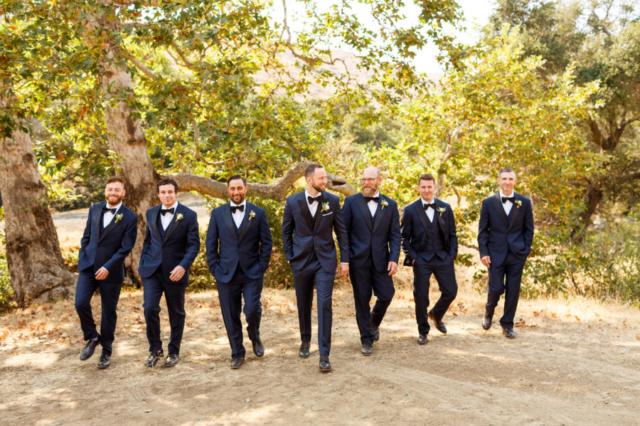 Groom and groomsmen strolling the property at La Cuesta Ranch